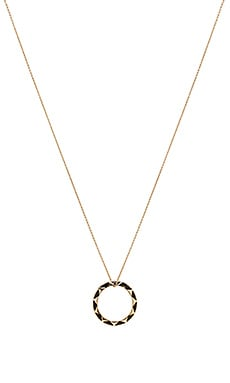House of Harlow Spectrum Pendant Necklace in Gold & Black