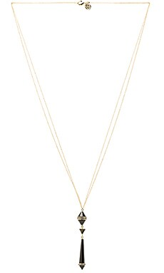 House of Harlow Corona Crystal Pendant Necklace in Gold & Black