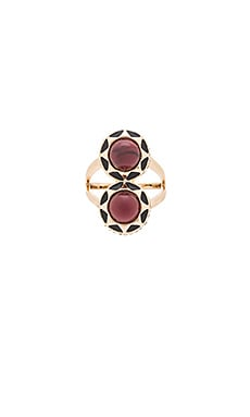 House of Harlow Spectrum Cocktail Ring in Gold & Merlot