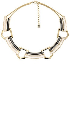 House of Harlow Revolution Collar Necklace in Howlite & Black