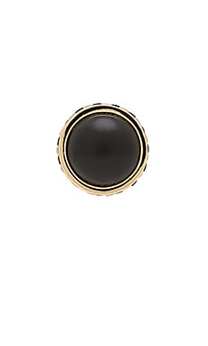 House of Harlow Heirloom Cocktail Ring in Gold & Black & Pearl