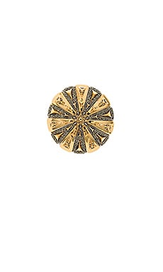 House of Harlow Ornamental Medallion Ring in Gold & Silver