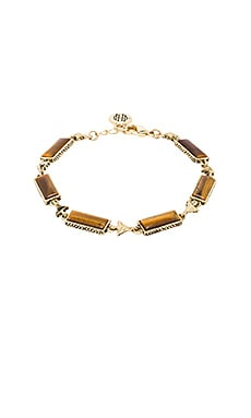 House of Harlow Clear Creek Bracelet in Gold & Tiger's Eye