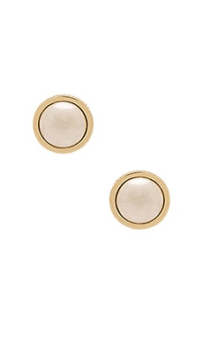 House of Harlow Desert Sun Button Earring in Gold & Silver