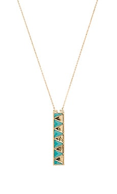House of Harlow Peak To Peak Pendant Necklace in Gold & Turquoise