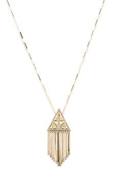 House of Harlow Golden Hour Fringe Pendant Necklace in Gold