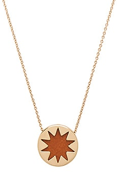 House of Harlow Mini Sunburst Pendant Necklace in Gold