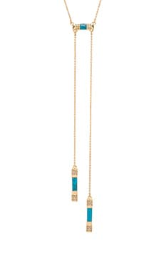 Age of Antiquity Bolo Tie Necklace en Gold & Turquoise Resin