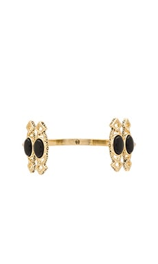 House of Harlow Lady Of Grace Cuff in Gold & Black