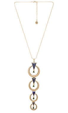 House of Harlow Hymn To Selene Drop Necklace in Lapis & Malachite