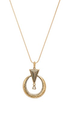 House of Harlow Hymn To Selene Pendant Necklace in Pyrite & Howlite