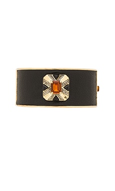 Art Deco Hinge Bracelet in Gold & Topaz
