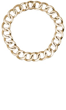 The Ra Chain Necklace in Gold Hammered