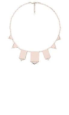 House of Harlow Classic Station Pyramid Necklace in Silver & Nude