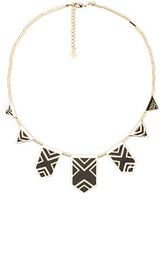 House of Harlow Classic Caged Station Necklace in Black