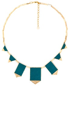 Classic Station Pyramid Necklace in Dark Teal