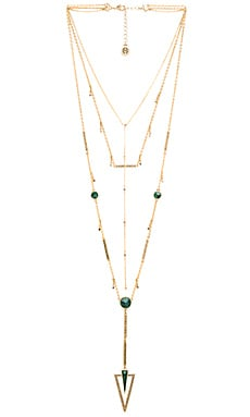 South Point Layered Necklace in Malachite