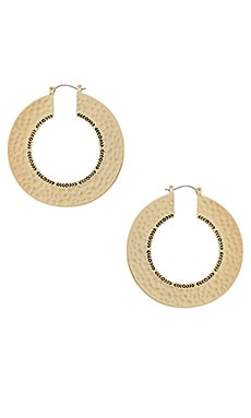 Helicon Hoop Earrings en Or
