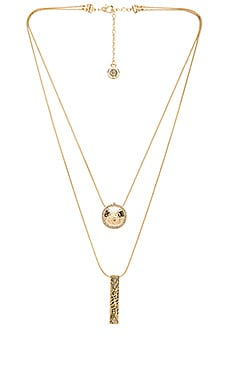Scutum Double Pendant Necklace en Or