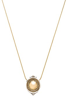 Scutum Pendent Necklace in Gold & Silver