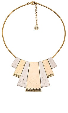 Scutum Statement Necklace in Gold & Silver