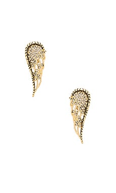 Aquila Wing Clip On Earrings in Gold