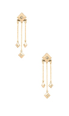 The Lyra Dangle Earrings in Gold