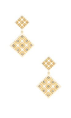 The Lyra Statement Earrings in Gold