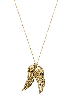The Avium Double Pendent Necklace in Gold