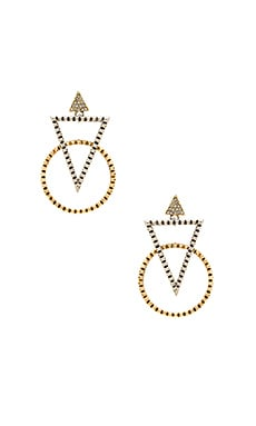 Nadia Statement Earrings in Gold & Silver