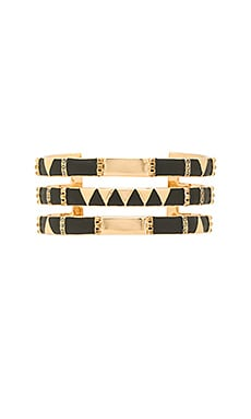 Nelli Cuff Bracelet in Gold & Black