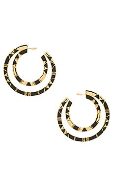 Nelli Large Hoop Earring in Gold & Black