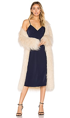 x REVOLVE Marisa Faux Fur Coat in Ivory