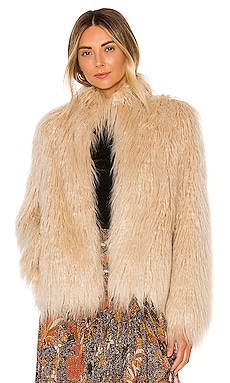 X REVOLVE Solaire Faux Fur Jacket House of Harlow 1960 $258 BEST SELLER