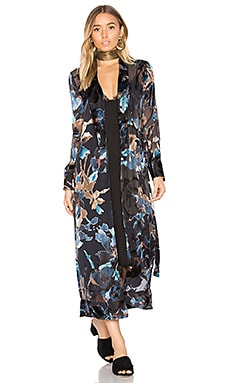 x REVOLVE Yoselin Maxi Bed Jacket in Painted Floral