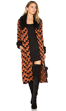 x REVOLVE Joan Coat in Vintage Check