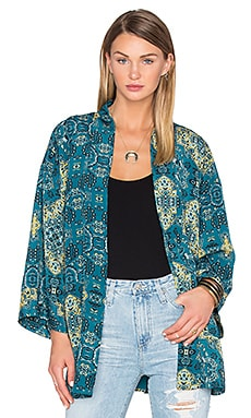 x REVOLVE Kora Bed Jacket in Moroccan Tile Print