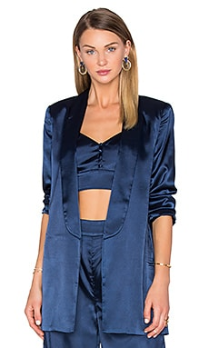 x REVOLVE Chloe Boyfriend Jacket in Navy