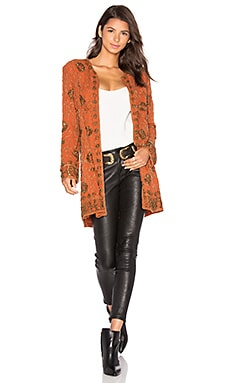 x REVOLVE Amber Embellished Coat in Burnt Orange