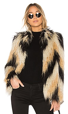 x REVOLVE Dee Faux Fur Coat