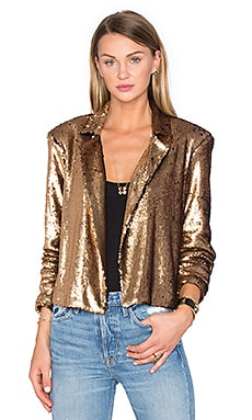 x REVOLVE Gigi Sequin Bolero in Gold