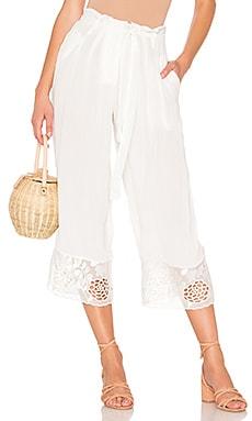 Купить Широкие брюки dewi - House of Harlow 1960 белого цвета