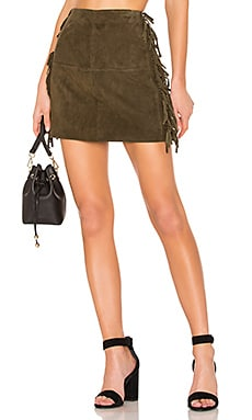 X REVOLVE Serafina Leather Mini Skirt House of Harlow 1960 $209