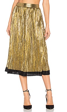x REVOLVE Luna Midi Skirt in Gold