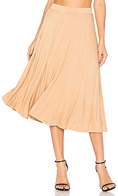 x REVOLVE Brooke Midi Skirt in Almond