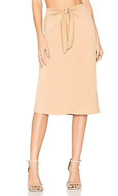 x REVOLVE Tina Midi Skirt in Almond