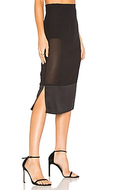 x REVOLVE Vitti Skirt in Black