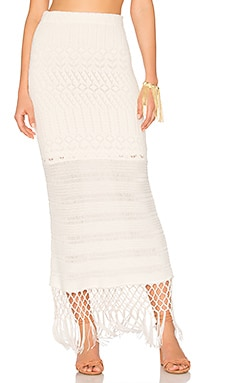 X REVOLVE Sandra Skirt in White