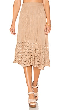 x REVOLVE Shaunie Midi Skirt in Bare