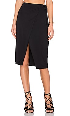 x REVOLVE Sloane Wrap Skirt in Black